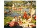 Gaston Balande (1880-1971)  -  Picknick aan de oever van de Seine - Postkaart -  A10778-1