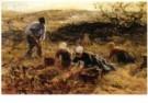 Jan Zoetelief Tromp (1872-1947 -  Aardappelrooien - Postkaart -  A10819-1