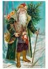 Anonymus  -  Kerstman loopt met cadeaus door de sneeuw - Postkaart -  A108442-1