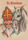 A.N.B.  -  Sinterklaas met paard - Postkaart -  A109199-1