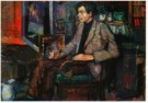Kees Verwey (1900-1995)  -  Man in stoel - Postkaart -  A10920-1