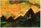 Kees Verwey (1900-1995)  -  Landschap boerderijen - Postkaart -  A10921-1