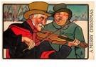 Anonymus  -  Kerstmuzikanten in de sneeuw - Postkaart -  A109818-1