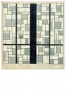 Theo van Doesburg (1883-1931)  -  Design for stained-glass window for the Abstract Cabinet in - Postkaart -  A109863-1