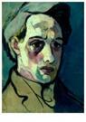 Theo van Doesburg (1883-1931)  -  Zelfportret, 1915 - Postkaart -  A110510-1