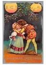 Anonymus  -  Jongen geeft meisje een kus - Postkaart -  A110675-1
