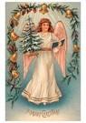 Anonymus  -  Engel met kerstboom en een boek - Postkaart -  A110699-1