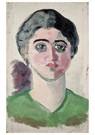Theo van Doesburg (1883-1931)  -  Portrait of Lena Milius, 1915 - Postkaart -  A110780-1