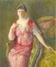 Georg Hering (1884-1936)  -  Portret Gertrude Noothoven van Goot-Nelson - Postkaart -  A11108-1
