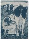Jan Mankes (1889-1920)  -  Koemelkster - Postkaart -  A11122-1