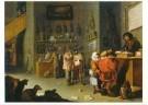 Cornelis Saftleven (1607-1681) -  Die wil regten om een koe - Postkaart -  A11133-1
