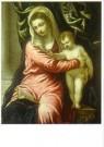 Jacopo Tintoretto (1518-1594)  -  Maria met kind - Postkaart -  A11138-1