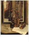 Johan Mekkink (1904-1991)  -  Stilleven met zelfportret, 1954 - Postkaart -  A11165-1