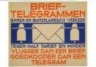 Nicolaas P. de Koo (1881-1960) -  Brievenbusbiljet PTT-Brieftelegrammen, 1933 - Postkaart -  A11245-1