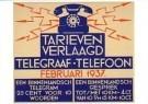 Nicolaas P. de Koo (1881-1960) -  Brievenbusbiljet PTT-Telegraaf en telefoontarieven - Postkaart -  A11246-1