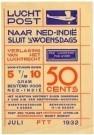 Nicolaas P. de Koo (1881-1960) -  Flyer PTT-Luchtpost Nederlands-Indie - Postkaart -  A11249-1
