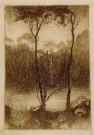 Jan Mankes (1889-1920)  -  Beekje bij avond, 1916 - Postkaart -  A11260-1