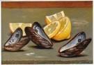 Ge Roling (1904-1981)  -  Stilleven met citroenen en mossels, 1975 - Postkaart -  A11263-1