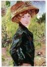 Jan Sluijters (1881-1957)  -  Dame met fiets, 1910 - Postkaart -  A11266-1