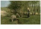 Anton Mauve (1838-1888)  -  Duinlandschap met schapen, z.j. - Postkaart -  A11273-1
