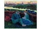Jan Th.Toorop (1858-1928)  -  Avond voor de werkstaking - Postkaart -  A11274-1