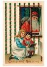 Anonymus  -  Kerstman kijkt door het raam naar binnen - Postkaart -  A112947-1