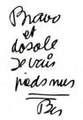 Ben Vautier (1935)  -  Bravo et dosole - Postkaart -  A11314-1
