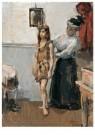 Isaac Israels (1865-1934)  -  In de kleedkamer, ca. 1910 - Postkaart -  A11321-1