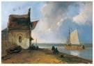 Johan B. Jongkind (1819-1891)  -  Klein rivierzicht - Postkaart -  A11322-1