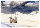 Winslow Homer (1836-1910)  -  Sand and Sky, 1887 - Postkaart -  A113244-1