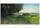 Jan Voerman sr. (1857-1941)  -  Melkbocht, zonder datering - Postkaart -  A11382-1