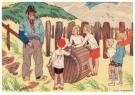Ella Riemersma (1903-1993)  -  Uit: Van Vier Vroolijke Klantjes uit het Zouteland - Postkaart -  A11401-1