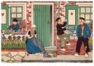 Ella Riemersma (1903-1993)  -  Uit: Van Vier Vroolijke Klantjes uit het Zouteland - Postkaart -  A11402-1