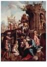 Jan van Scorel (1495-1562)  -  De aanbidding van de drie koningen - Postkaart -  A11413-1