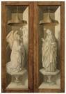 -  Buitenzijde van het drieluik met de kruisiging - Postkaart -  A11438-1