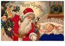 Anonymus  -  Kerstman brengt cadeaus bij een slapend kind - Postkaart -  A114523-1