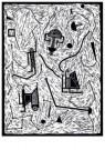 Pieter Bijwaard (1955)  -  Linosneden - Postkaart -  A11472-1