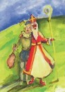 Michelle Buffart  -  Zwarte Klaas en Witte Piet, 2009 - Postkaart -  A11496-1
