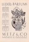Stefan Schlesinger (1896-1944) -  Advertentie Metz & Co, filiaal Den Haag - Postkaart -  A11551-1