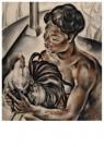 Dolf Breetvelt (1892-1975)  -  Balier met vechthaan, ca 1930 - Postkaart -  A11572-1