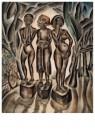 Dolf Breetvelt (1892-1975)  -  Drie figuren op sokkels, ca 1935 - Postkaart -  A11576-1