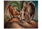 Dolf Breetvelt (1892-1975)  -  Hond en Zebu, 1936-1937 - Postkaart -  A11577-1