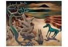 Dolf Breetvelt (1892-1975)  -  Paardje in surrealistisch landschap, ca 1936 - Postkaart -  A11579-1