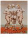 Herman Gordijn (1932-2017)  -  Drie gratien, 2009 - Postkaart -  A11612-1