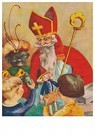 A.N.B.  -  Sinterklaas deelt cadeaus uit - Postkaart -  A117596-1