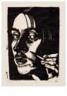 Dick Ket (1902-1940)  -  Zelfportret met hand en penseel, 1930 - Postkaart -  A11768-1