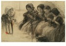 Wally Moes (1856-1918)  -  Breischool te Huizen - Postkaart -  A11803-1