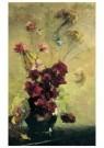 Floris Verster (1861-1927)  -  Donkere pioenen in aardewerken pot - Postkaart -  A11805-1