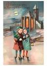 Anonymus  -  Kinderen lopen in de sneeuw - Postkaart -  A118176-1