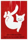 Frans Mettes (1909-1984)  -  Alleen vallende katten komen op hun pootjes terecht - Postkaart -  A11830-1